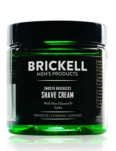 Brickell Men's Products Crema da Barba Delicata per uso senza Spazzola - 5 once - Naturale ed Organico - Non profumata