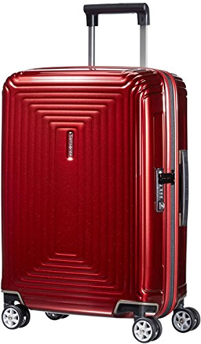Samsonite Neopulse Bagaglio a Mano 4 Wheel Spinner 55cm Cabina Metallic Red
