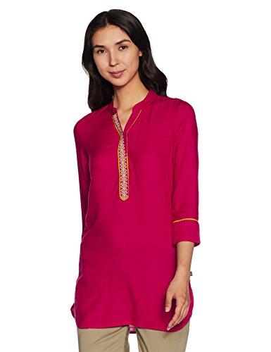 Juniper Women's Tunic Long Sleeve Top (5102_Magenta_XS)