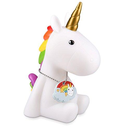 Navaris luce notturna LED unicorno - lampada per bambini lucina da notte per camera bambini con led...
