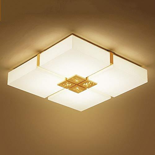 GWFVA Plafoniere a LED Luci Quadrate in Legno massello Luci da Camera da Letto Luci da Balcone...