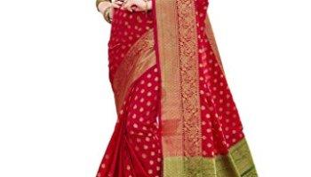 153e9a5483d26 EthnicJunction Booti Zari Butta Designer Banarasi Silk Saree With Zari  Thread Work Unstitched Blouse Piece(
