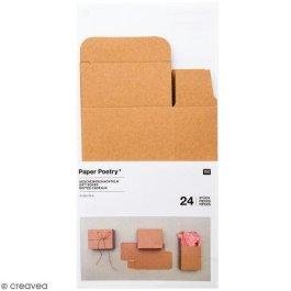 Adventskalender Boxen Kraftpapier, 24 Stück