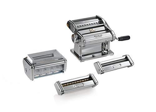Marcato Multipast Macchina per Pasta Manuale con Accessori, Acciaio Cromato, Argento, 20 x 20.7 x...