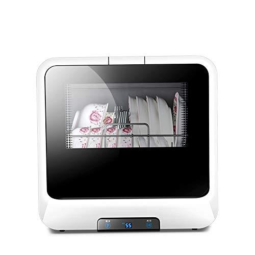 OMLTER Lavastoviglie Automatica da Tavolo in Acciaio Inossidabile con Funzione di Asciugatura E...