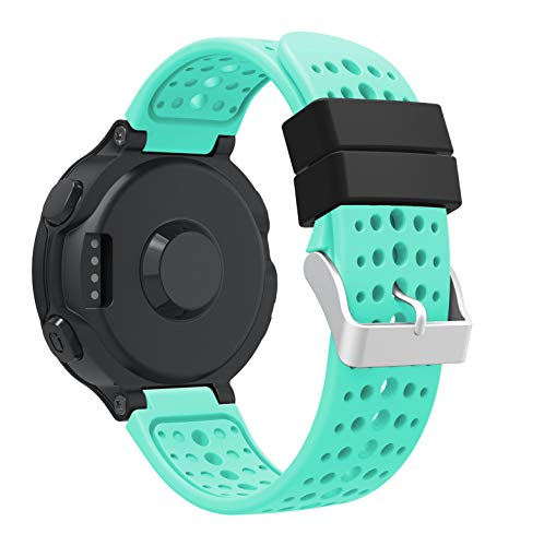 TOPsic Garmin Forerunner 235 Cinturino, Morbido Silicone Sportivo Ricambio Accessori Cinturino Cinghia per Garmin Forerunner 220/230/235/620/630/735 Smart Watch