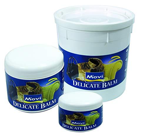 MOVI DELICATE BALM - Crema delicata per pellami pregiati. Pulisce e nutre divani, poltrone, giubbotti, scarpe e altri oggetti in pelle. Neutro. 250 ml - 500 ml - 1000 ml.