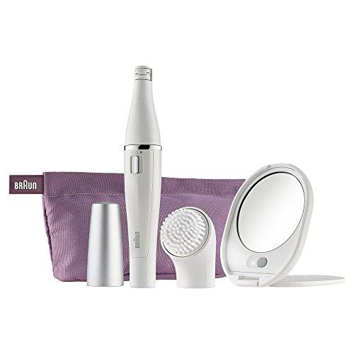 Braun Face 830 Premium Edition Epilatore Viso e Spazzola di Pulizia Viso con Specchio e Pochette