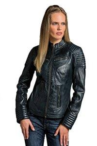 Coole kurze Biker Damen Lederjacke LB01 6