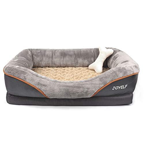 JOYELF memory foam ortopedico letto per cani, cane letto e divano con copertura rimovibile lavabile e Squeaker giocattoli come regalo