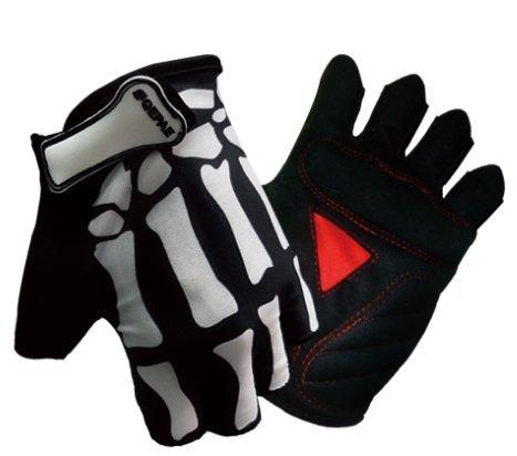 QEPAE Guanti da Ciclismo Sport Guanti Mezze Dita Gloves 045