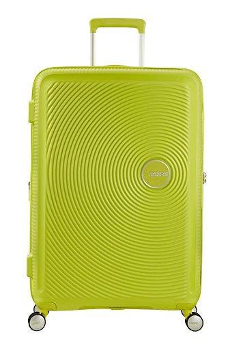 American Tourister - Soundbox Spinner Espandibile Bagaglio a Mano, 67cm, 71,5/81 L - 3,7 KG, Verde...