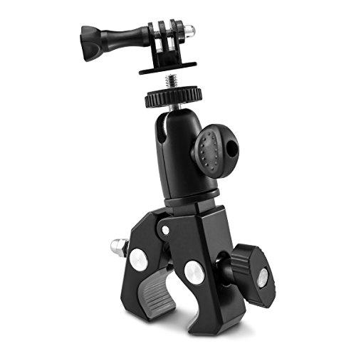 kwmobile Supporto fotocamera bici moto - Sostegno universale macchina fotografica con tripiede per...