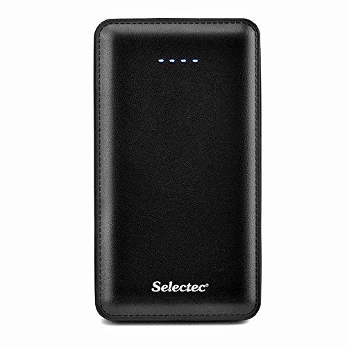 SELECTEC 10000mAh Batería Externa Universal 2 puerto USB 5V / 2.1A. Power Bank Cargador Portátil Banco de la Energía para iPhone, iPad, iPod, Samsung, Tablet PC, HTC, LG y Más reciente iphone7 ect, Casi todo los dispositivos -Negro