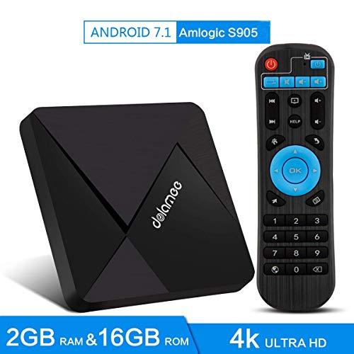 Android TV Box 7.1 2GB RAM 16GB ROM Mini Smart TV Box 4K HD/3D/Amlogic Quad Core S905W 64...