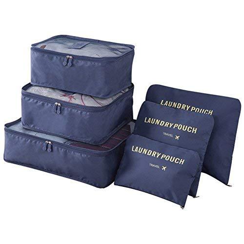 Vicloon Sistema di Cubo di Viaggio, Cubo Borse di stoccaggio, 6 pezzi Abbigliamento Intimo...