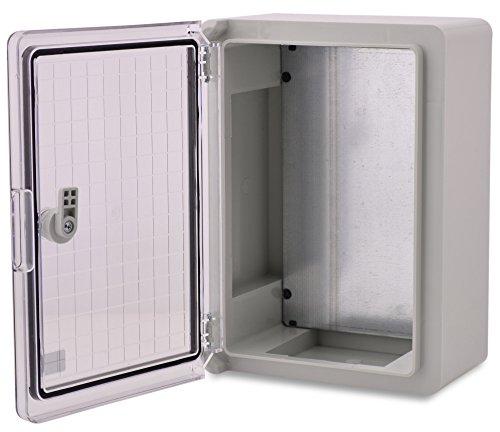 BOXEXPERT Quadro elettrico a parete scatola armadio 250x350x150mm IP 65 grigio RAL7035 trasparente...