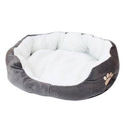 katzeninfo24.de Warme Tierbett Katzenbett Hundebett Haustierbett Hundekissen für Haustier Hündchen Welpen Katzen Waschbar Faltbar 7 Farben