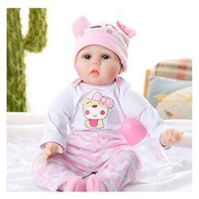 Bebé simulación, simulado bebé pesado, muñeca, chica paño suave regalo material de silicona cuerpo, muñeca acompaña, muñeca Renacer
