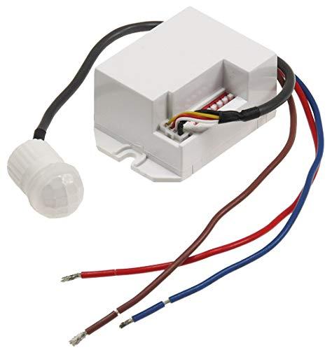 Mini-sensore di movimento a incasso, 230 V, 800 W, 15 mm, adatto a lampadine a LED, colore: bianco,...