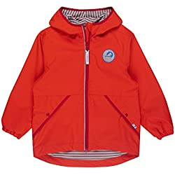 Finkid Puuskiainen grenadine red Kinder Zip In Regen Jacke