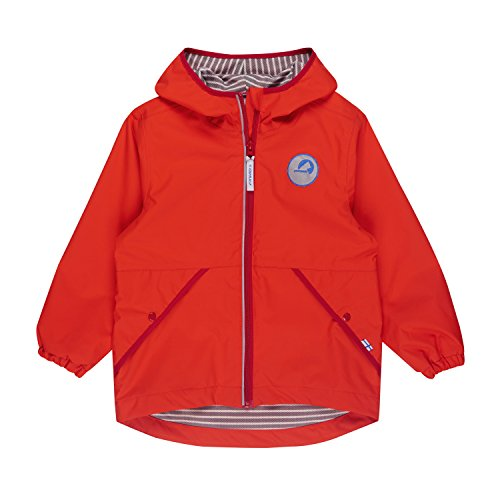 Finkid Puuskiainen grenadine red Kinder Zip In Regen Jacke