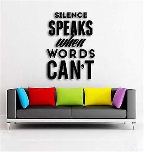 pegatinas de pared mariposas El silencio de un mensaje inspirado habla cuando las palabras no pueden