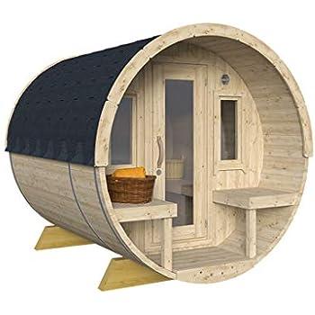 Sauna Cube Finlandese Da Esterno 2x2m Con Stufa Legna Per 6
