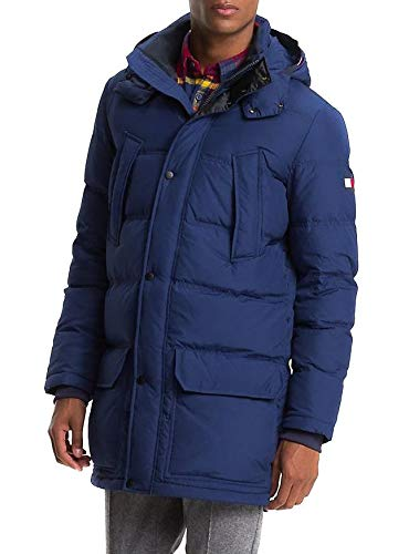 Tommy Hilfiger Parka Down Blu Navy Man M Blue