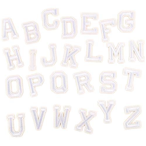 Toppe termoadesive a forma di lettere dell'alfabeto dalla A alla Z, per fai da te, da applicare con...