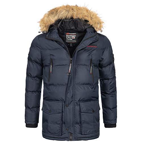 Geographical Norway Bravici MenŽs Winter Jacket Navy, Dimensione:L