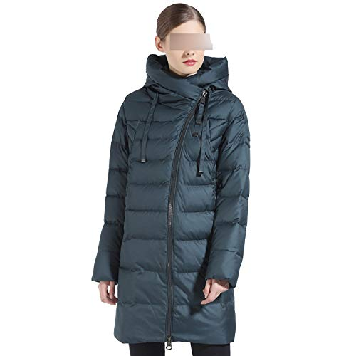 kanyeah Women Winter Jacket Long Winter Thick Coat for Women Hooded Down Parka Clothes-475DarkGreen-X-Large