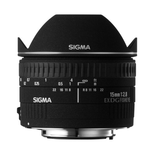 Sigma 15mm f/2.8 diagonal fisheye DG EX CAF - Objetivo para Canon (distancia focal fija 15mm, apertura f/2.8) color negro