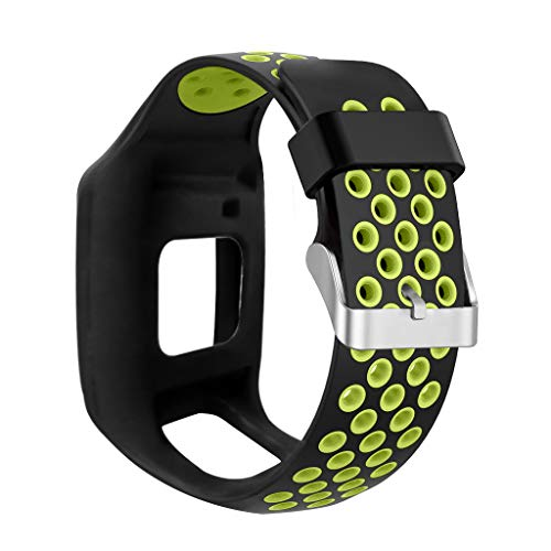 BASSK - Cinturino di Ricambio per Orologio Tomtom 1 Multi-Sport GPS HRM CSS Am Cardio Runner