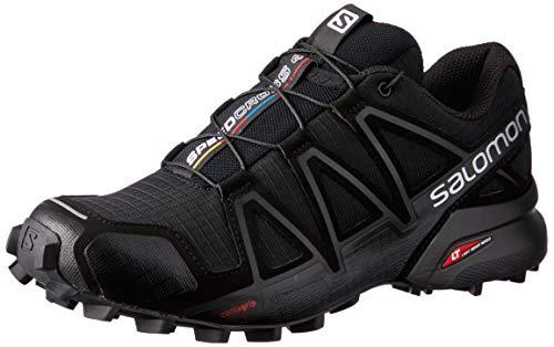 Salomon Women''s Speedcross 4 - Zapatillas Para Mujer, Negro (Black/Black/Black Metallic), 39 1/3 EU