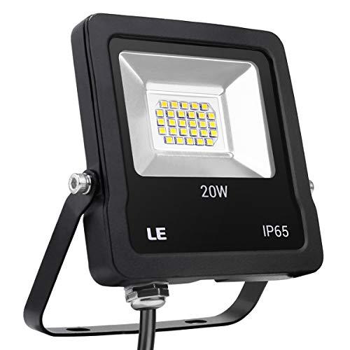 LE, faretto LED da esterno da 20 W, 1600 lumen, equivalente a faretti alogeni da 200 W, impermeabile...