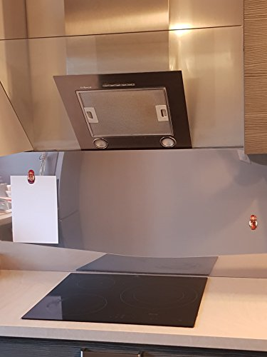 AluCouleur Fondo di cappa/Credenza Inox magnétique-8tailles-hauteur 75cm x, Acciaio INOX,...
