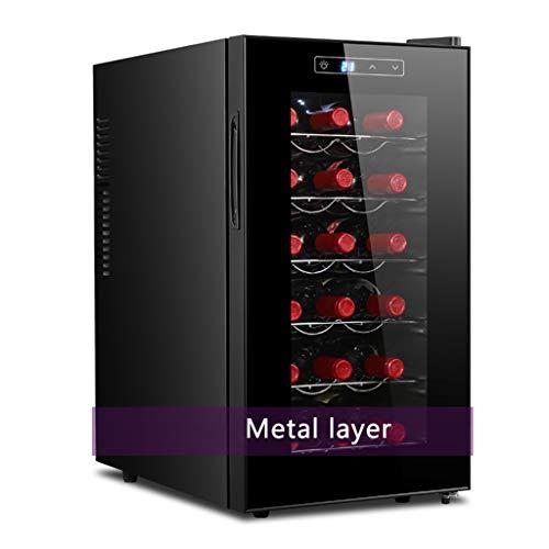 JCOCO 18 bottiglie di refrigeratore di vino termoelettrico/refrigeratore | cantina per vini rossi e...