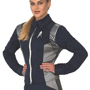 STAR TREK Discovery Science Uniform Silver Female Adult Costume Large