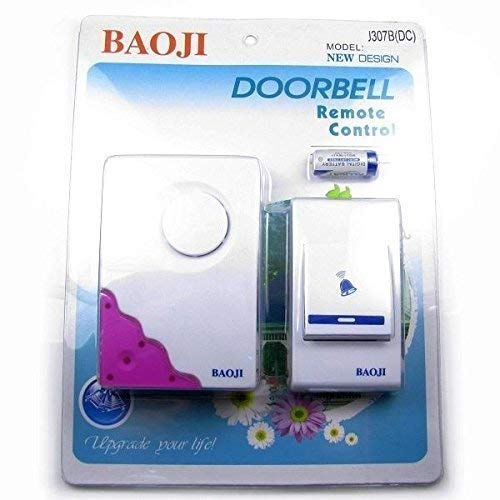 Wolblix Baoji Wireless Cordless Calling Remote Door Bell for Home, Office and Shop 32 Types Music, Multicolour