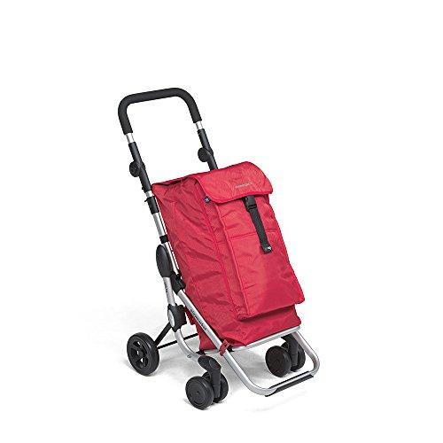 Foppapedretti Go Up Carrello Portaspesa, Capacità 38 Litri, Rosso (Red), 40 x 48 x 110 cm