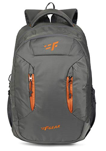 F Gear Amigo Doby 36 Ltrs Grey Org Casual Backpack (3222)