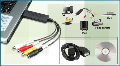 AlexVyan USB 2. 0 Easycap DC60-008 Tv Dvd VHS Video Adapter Audio AV Capture Support 8