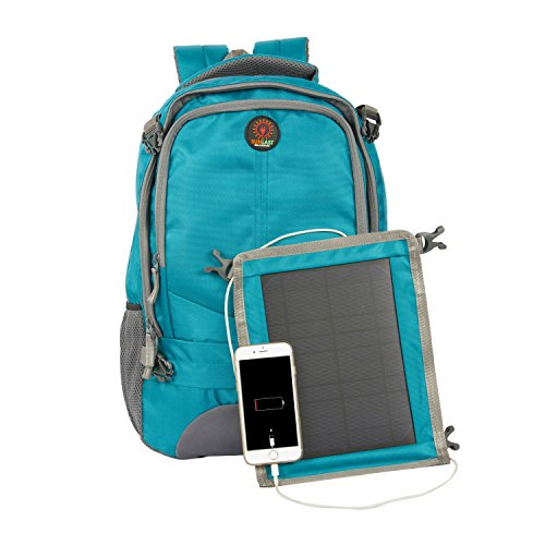SUNLAST L002 Blue Laptop Backpack with Solar Mobile Charger