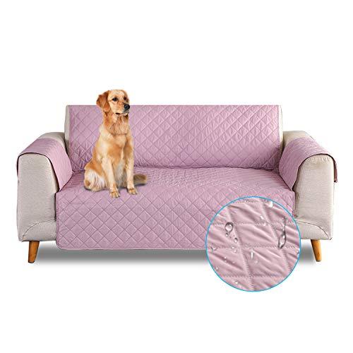 PETCUTE Copridivano 3 posti Impermeabile Antiscivolo Fodera per divani Trapuntato Copridivano Protezioni per divani per Animali Domestici Rosa