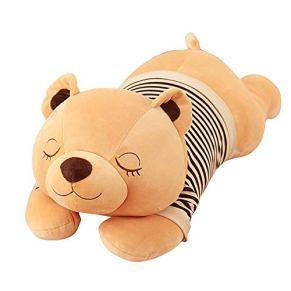 Yinglihua Juguete de Peluche Girl Boy Home Decor Sleeping Bear Plush Toy Cómodo Soft Hug Pillow Adecuado for San Valentín Regalo de cumpleaños de Navidad Apto para niños y Adultos.