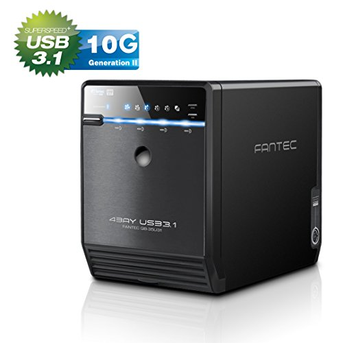 FANTEC QB-35U31 Box Case Esterno per 4x Hard Disk SATA I/II/III da 8,89 cm (3,5 pollici), Porta USB...