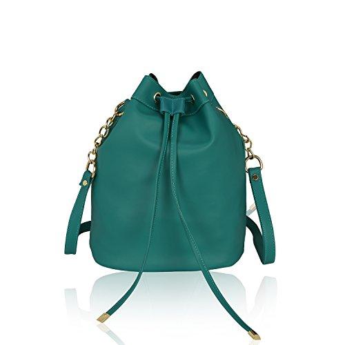 Kleio Women's Bucket Sling Bag (Edk1036Kl-Ogr , Green)