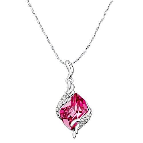 c6e10aef9 Yellow Chimes Crystals from Swarovski Angel Guardian Silver Crystal Pendant  for Women and Girls