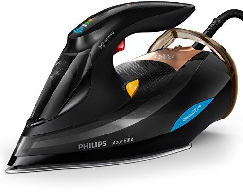 Philips gc5033/80Azur Elite Ferro da stiro a vapore, dynamiq Sensor, 0.35L, 3000W, Nero/Rame